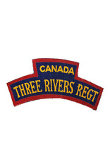 The Three Rivers Regiment   Printed Shoulder Title