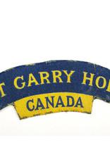 The Fort Garry Horse Printed Shoulder Title