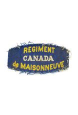 Regiment de Maisonneuve - Printed Shoulder Title