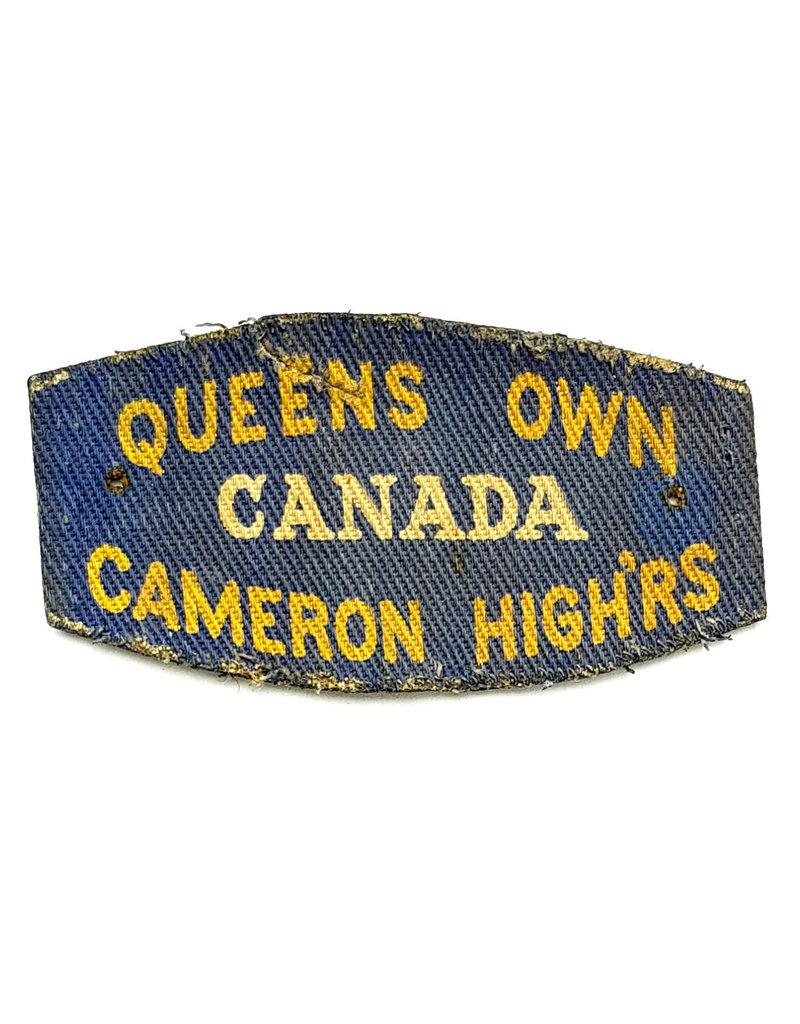 Queen's Own Cameron Highlanders - Gedrukte Schoudertitel