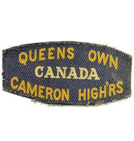 Queen's Own Cameron Highlanders - Gedrukt