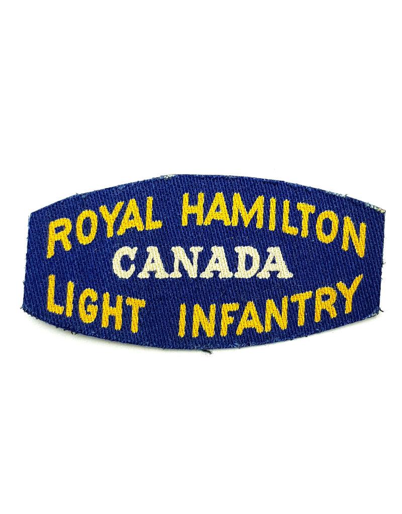 Royal Hamilton Light Infantry - Printed Shoulder Title