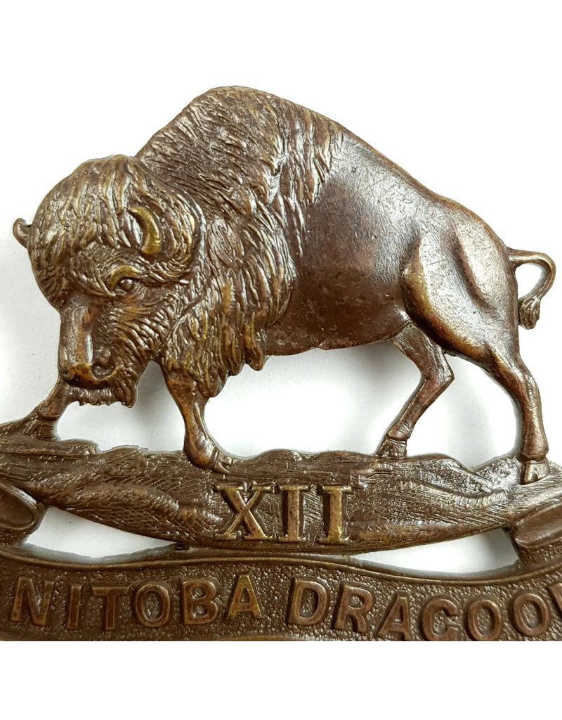 'XII Manitoba Dragoons' Baret Embleem OFFICIERS
