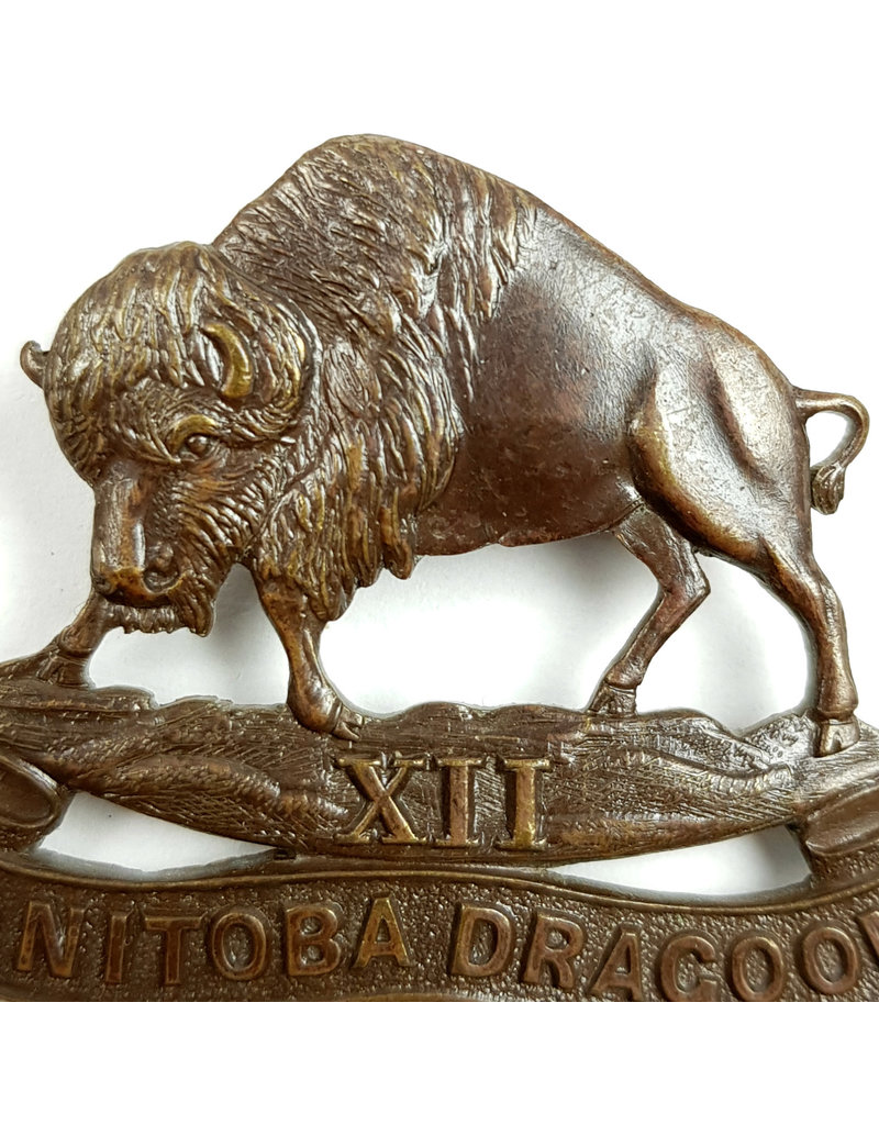 'XII Manitoba Dragoons' Cap Badge OFFICERS