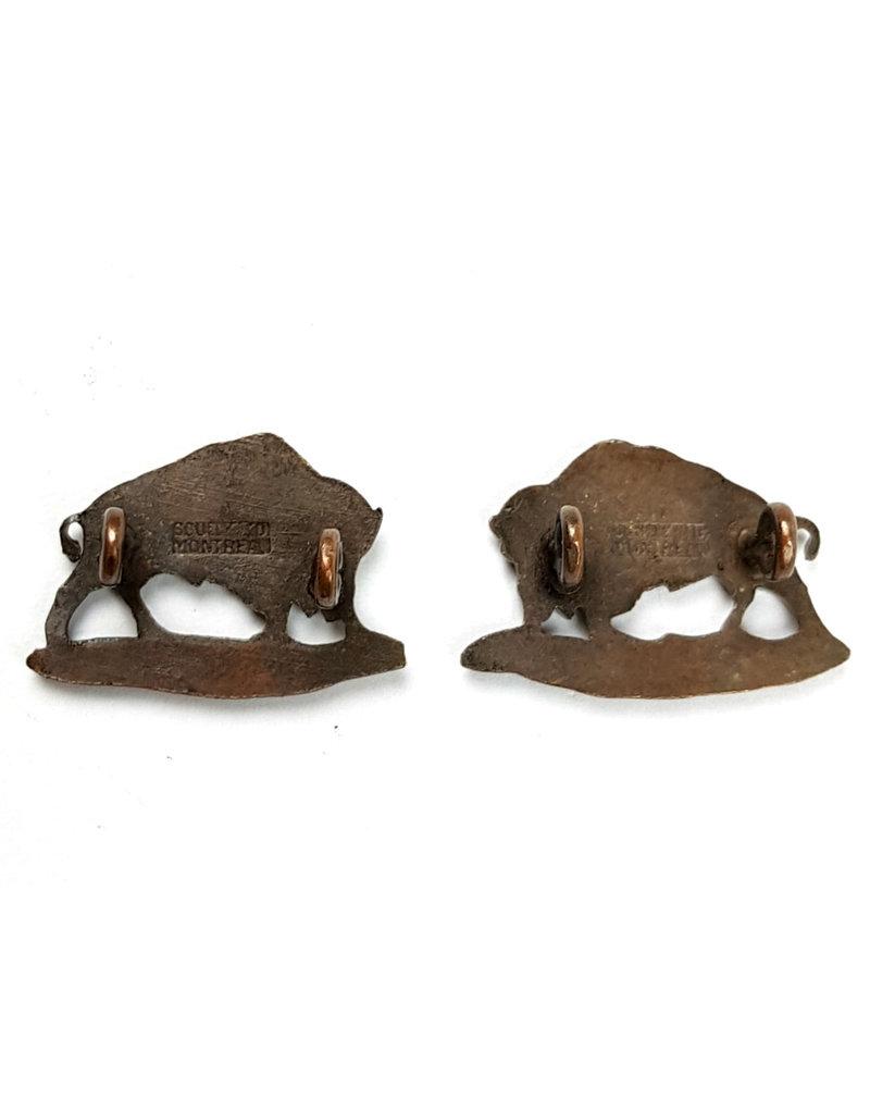 'XII Manitoba Dragoons' Collar-Badges
