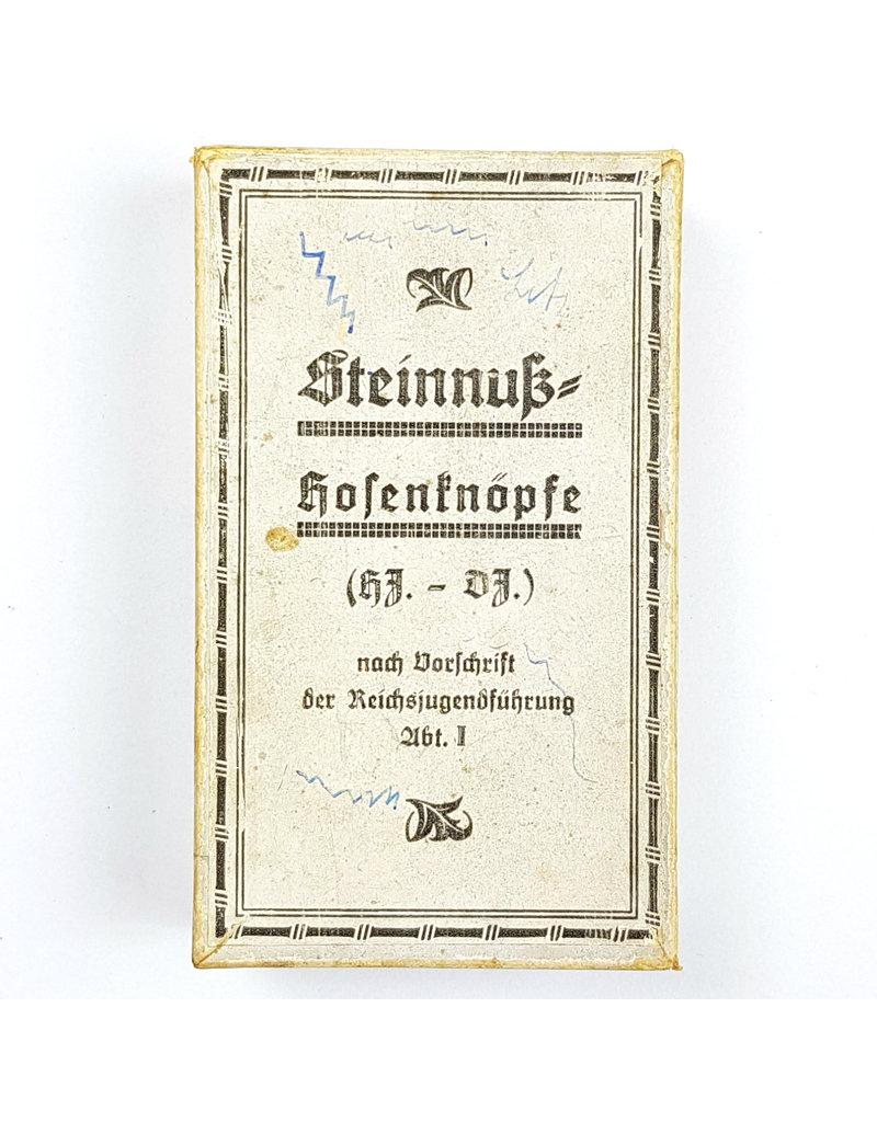 Steinnuss Hosenknopf Box