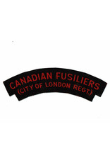 Canadian Fusiliers, City of London Regt  - Printed