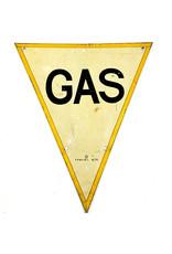 Britse WO2 Gas Waarschuwingsbordje