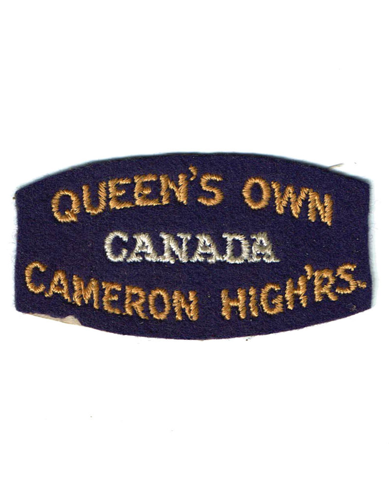 Queen's Own Cameron Highlanders of Canada - Shoulder Flash