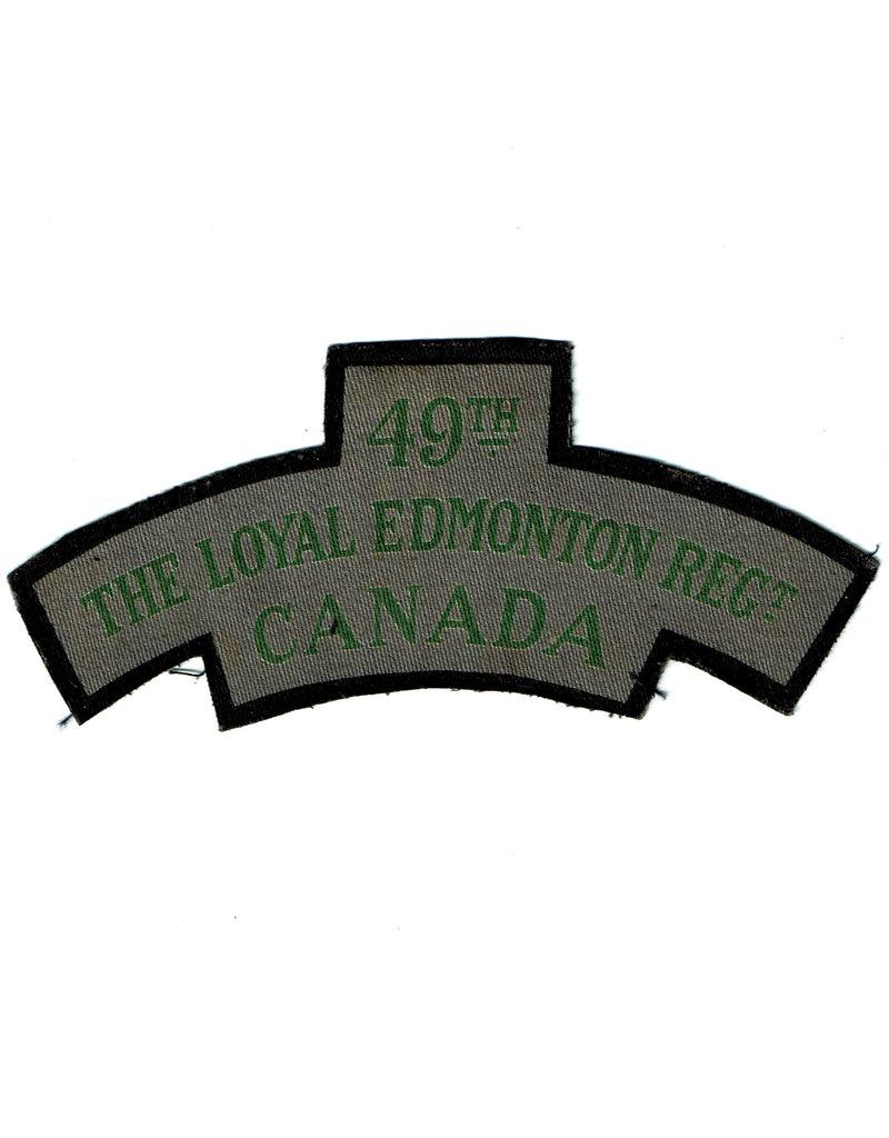 49th Loyal Edmonton Regt - Shoulder Flash