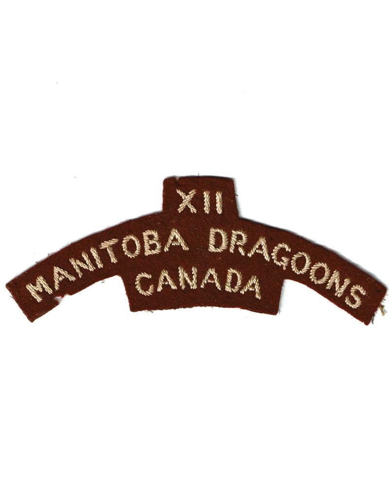 12 Manitoba Dragoons Shoulder Flash