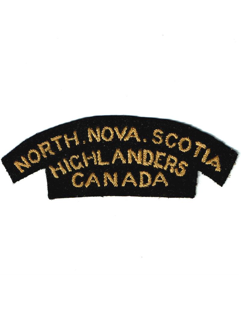 North Nova Scotia Highlanders Shoulder Flash