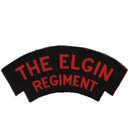Elgin Regiment Shoulder Flash