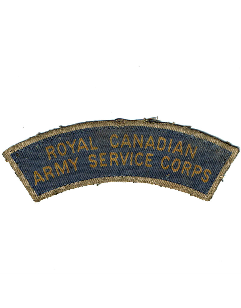 Royal Canadian Army Service Corps Title