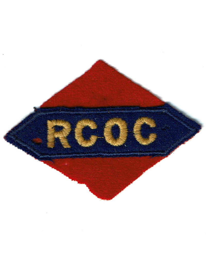Royal Canadian Ordnance Corps - 1st Canadian Army - Printed Patch