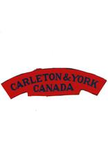 Carleton & York Regiment - Printed Shoulder Flash