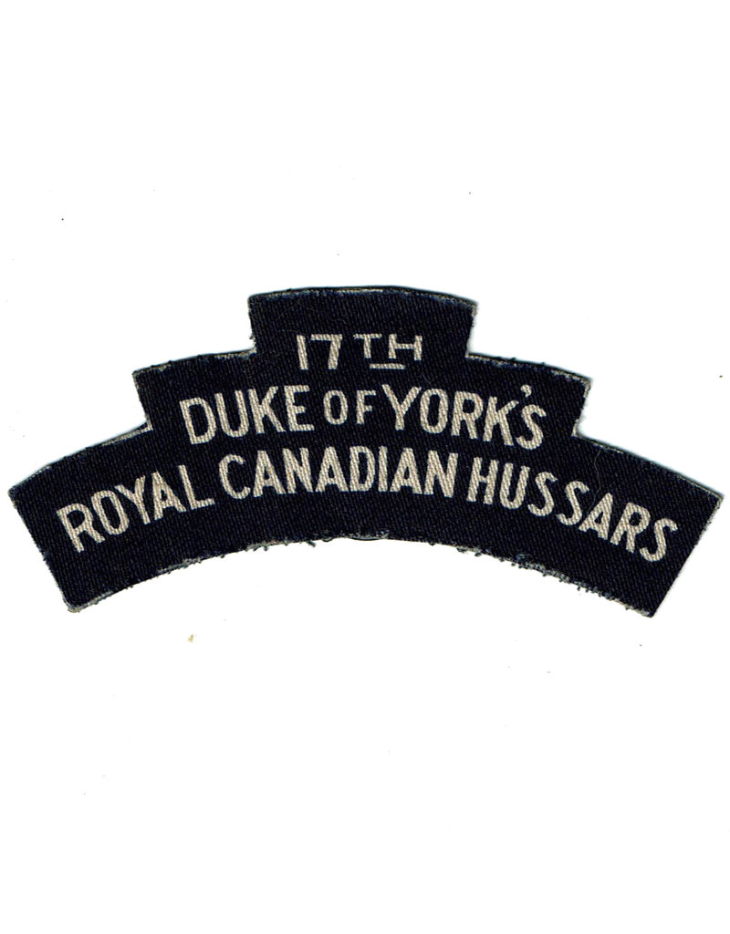 17th Duke of York's, Royal Canadian  Hussars - Printed Flash