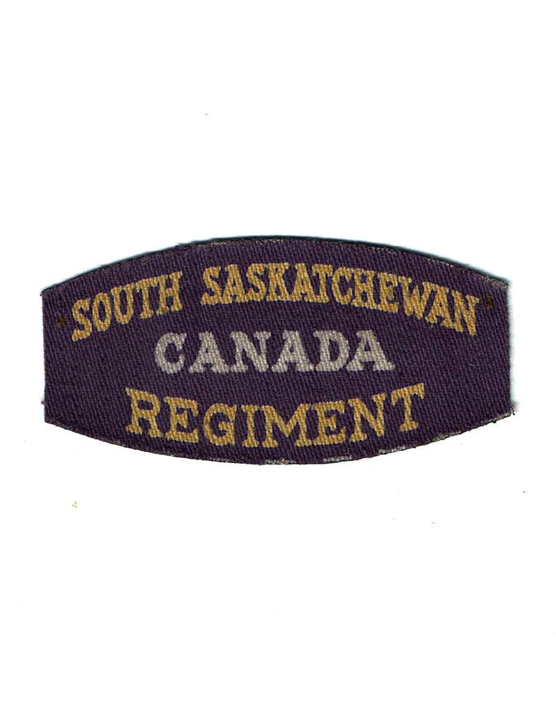 South Saskatchewan Regiment - Printed Shoulder Title