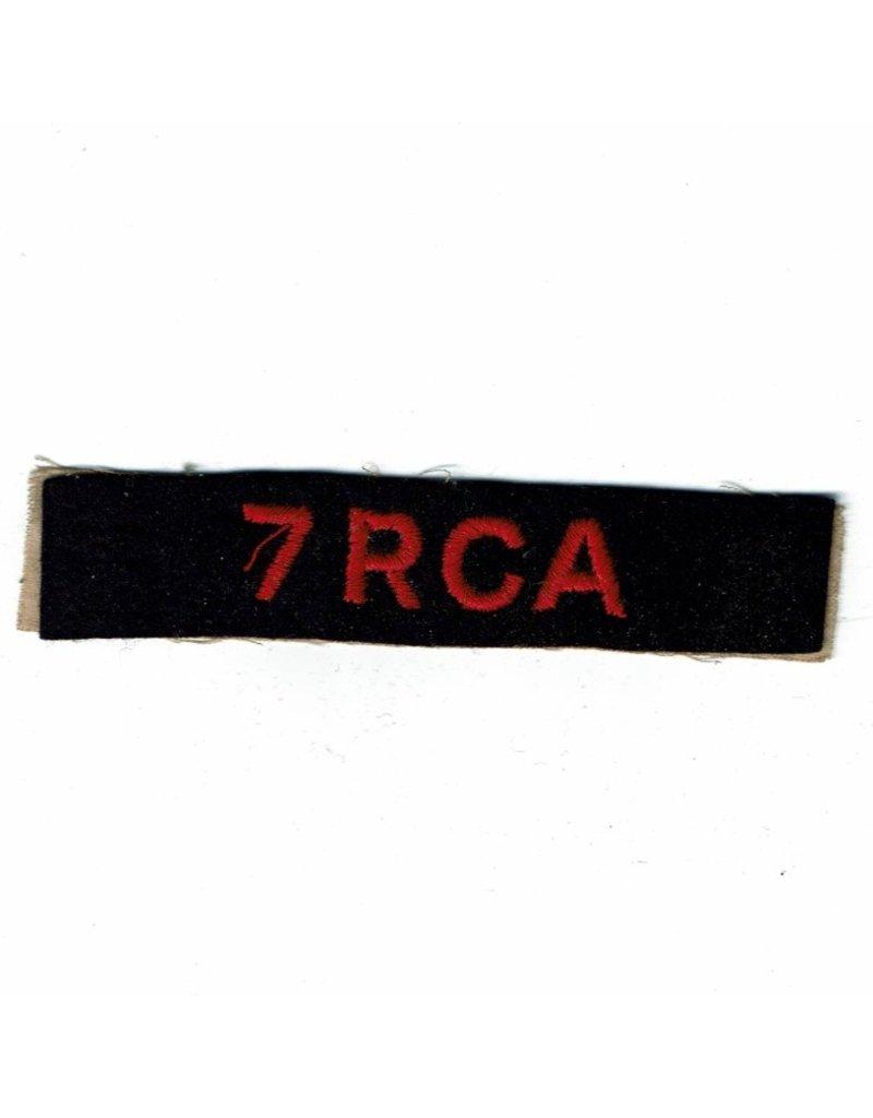 7th Field Regiment- RCA - Schouder Embleem