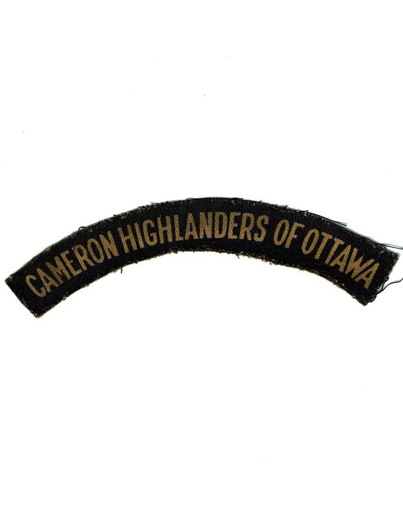 Cameron Highlanders of Ottawa - Printed Title
