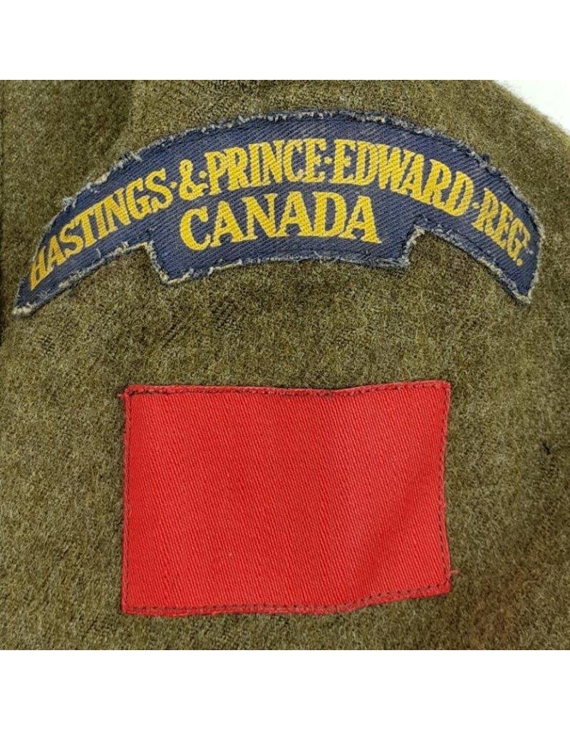 Battledress met Baret - Hastings & Price Edward Regt.