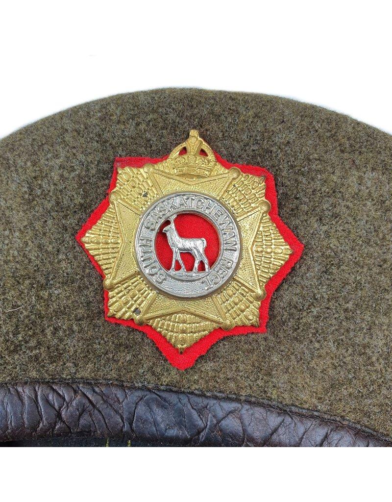 Canadese WO2 Baret  - South Saskatchewan Regiment