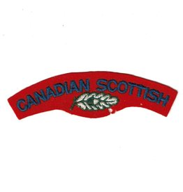 'Canadian Scottish Regiment' Shoulder Title