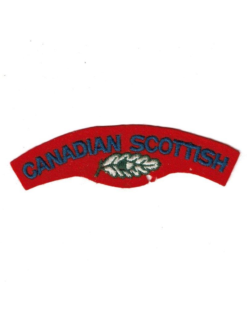 'Canadian Scottish Regiment' Schoudertitel - Starch Back