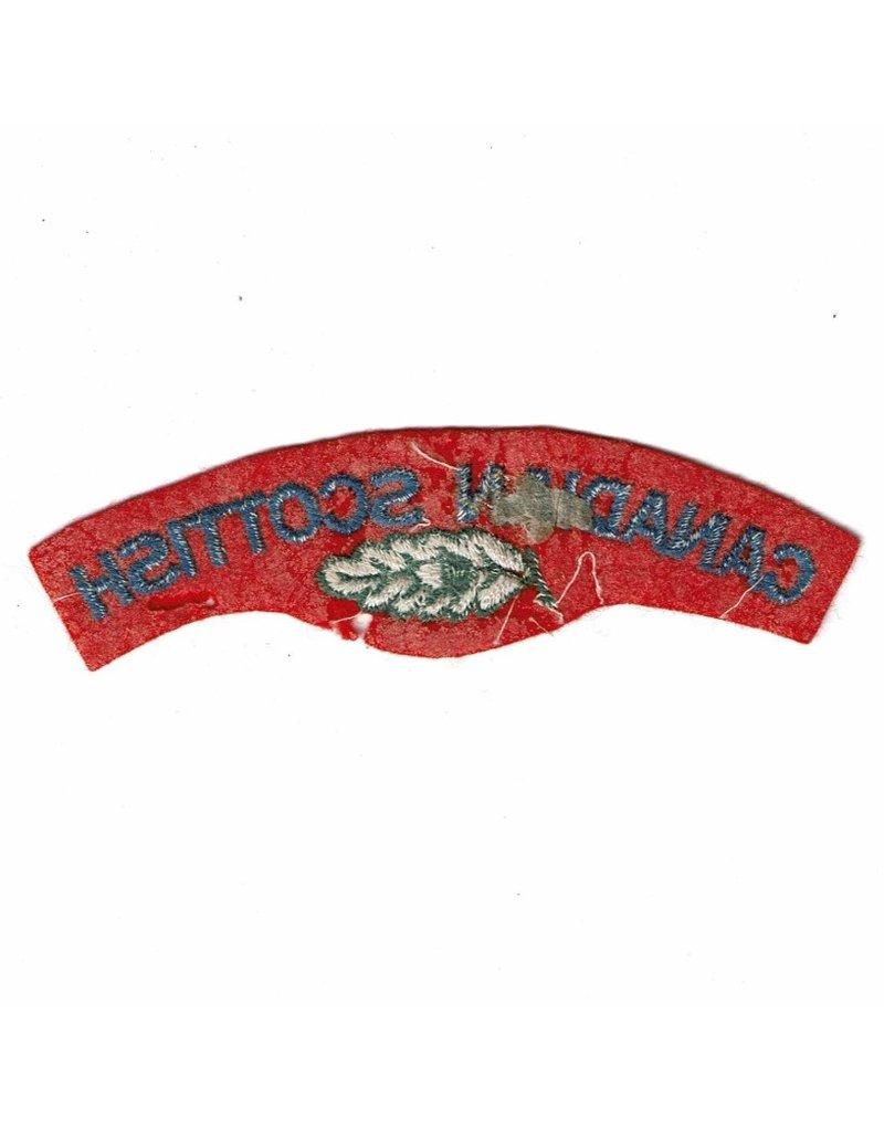 'Canadian Scottish Regiment' Shoulder Title - Starch Back