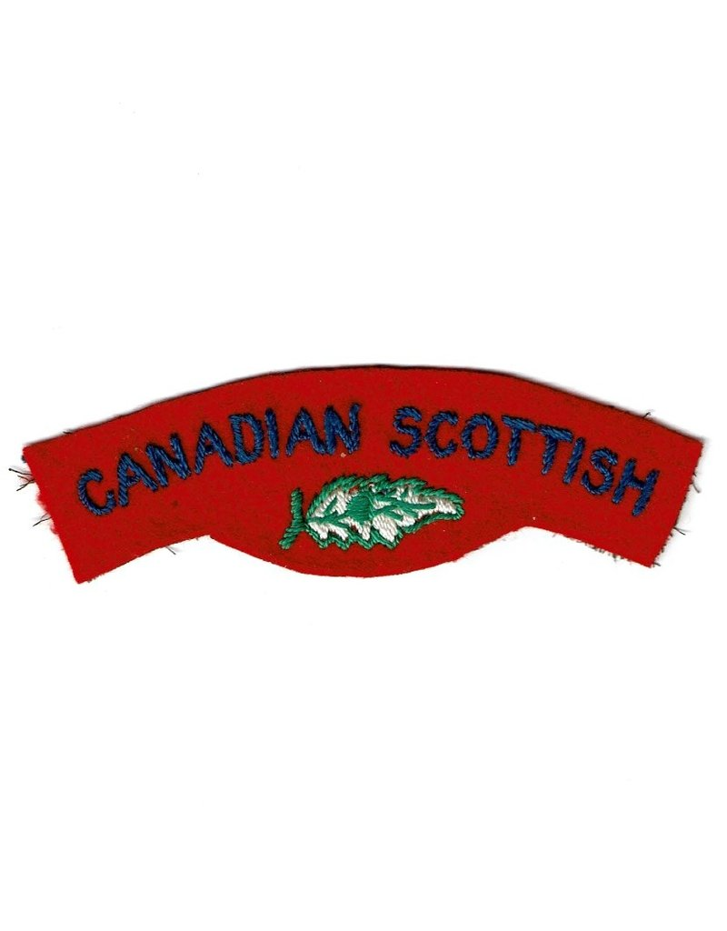 Canadian Scottish Regiment - Geborduurd Embleem