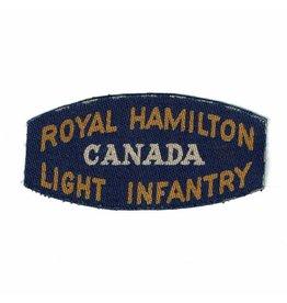 Royal Hamilton Light Infantry- Printed