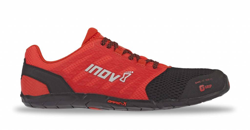 Inov-8 BARE XF 210 V2 - Men's - BLACK/RED - EU45 / UK10.5