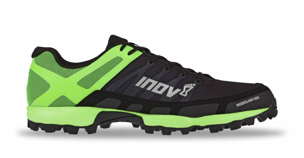 Inov-8 MUDCLAW 300 - Men's - BLACK/GREEN - EU44 / UK9.5