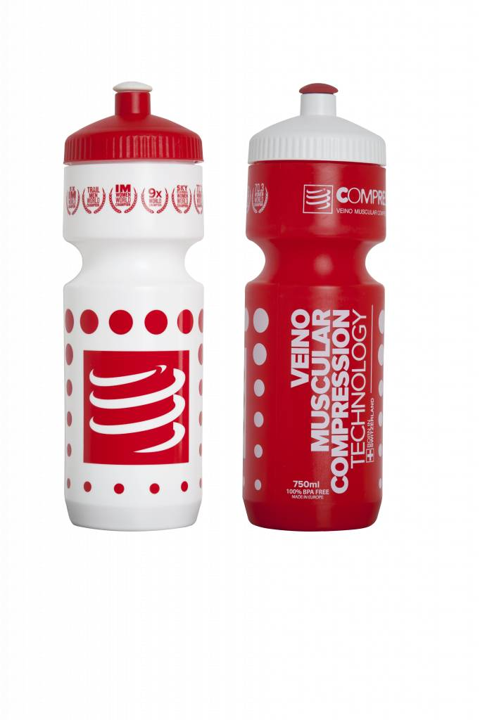 Compressport Cycling Bottle - RED/WHITE - 750mL