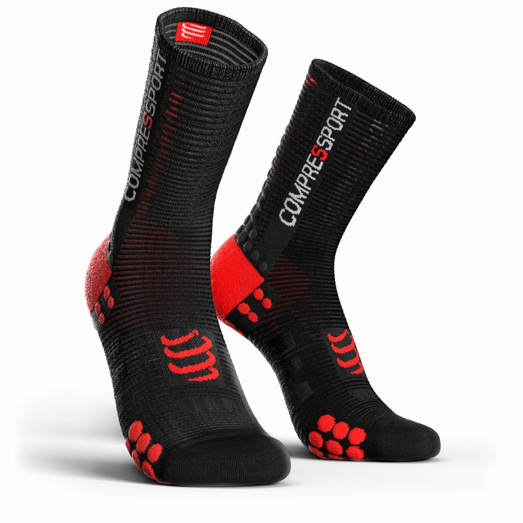 Compressport Pro Racing Socks v3.0 Bike - BLACK/RED - T2