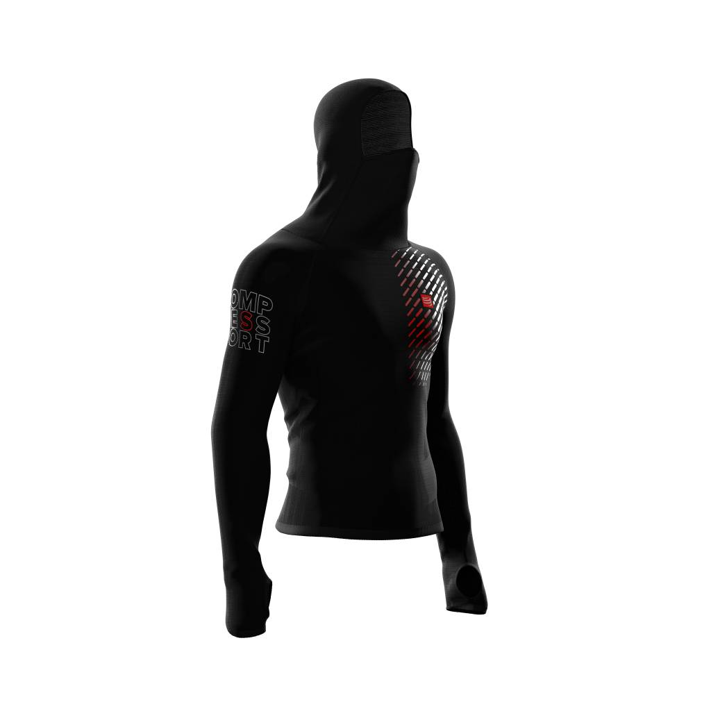 Compressport 3D Thermo UltraLight Racing Hoodie - BLACK - S