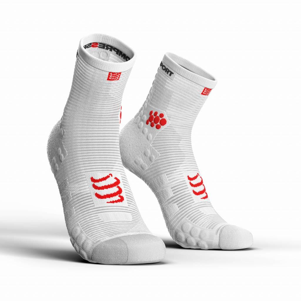 Compressport Pro Racing Socks v3.0 Run High - WHITE - T3