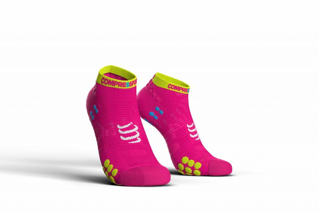 Compressport Pro Racing Socks v3.0 Run Low - FLUO PINK - T1