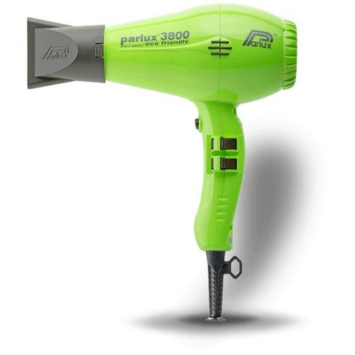 Parlux 3800 Eco Friendly Hairdryer Green