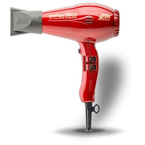 Parlux 3800 Eco Friendly Hairdryer Red