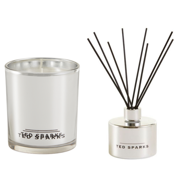 Silver Amber & Pepper Diffuser and Geurkaars Combi Pack