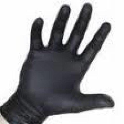 Sibel Nitrile Gloves BLACK, 100 Pieces, LARGE