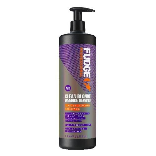 Fudge Clean Blonde Damage Rewind Violet-Toning Shampoo 1L
