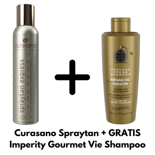 Curasano Spraytan 200ml + Free Imperity Gourmet Vie Shampoo