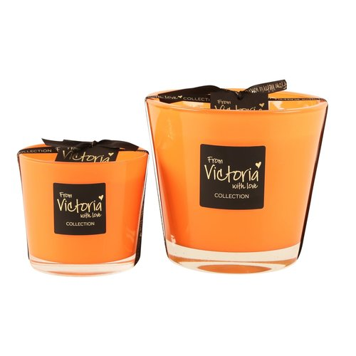Victoria with Love Glossy Orange Small Geurkaars
