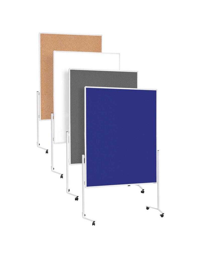 magnetoplan mobile Moderationstafel, Filz, blau
