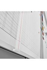 magnetoplan Wochenplaner, 5-Tage, 80 Mitarbeiter, 150 x 100 cm (BxH)