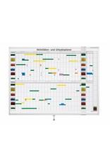 magnetoplan Wochenplaner, 7-Tage, 30 Mitarbeiter, 120 x 90 cm (BxH)