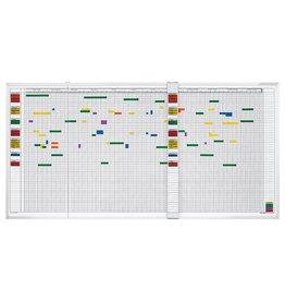 magnetoplan Wochenplaner, 5-Tage, 30 Mitarbeiter, 143 x 230 cm (BxH)