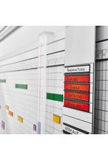 magnetoplan Wochenplaner, 5-Tage, 60 Mitarbeiter, 150 x 60 cm (BxH)